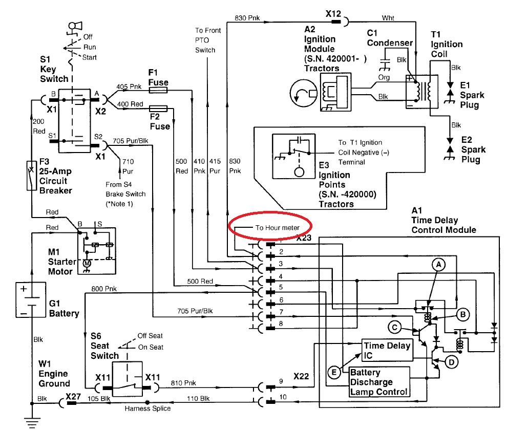 Hour meter wiring
