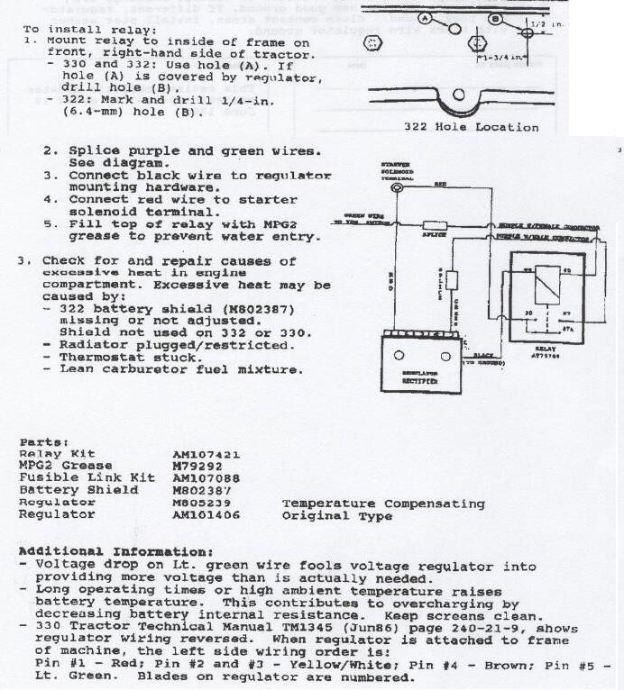 Voltage Regulator kit for 332 | Weekend Freedom Machines | Rectifier Wiring Diagram For John Deere |  | Weekend Freedom Machines